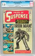 Silver Age (1956-1969):Superhero, Tales of Suspense #39 (Marvel, 1963) CGC FN/VF 7.0 Cream tooff-white pages....