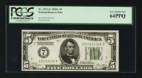 Fr. 1951-G $5 1928A Federal Reserve Note. PCGS Very Choice New 64PPQ