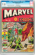 Golden Age (1938-1955):Superhero, Marvel Mystery Comics #18 (Timely, 1941) CGC FN/VF 7.0 Off-white pages....