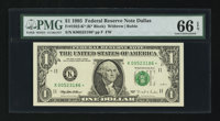 Fr. 1922-K* $1 1995 Federal Reserve Star Note. PMG Gem Uncirculated 66 EPQ