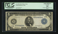 Fr. 849 $5 1914 Federal Reserve Note PCGS Apparent Very Fine 25
