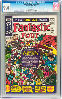 Fantastic Four Annual #3 (Marvel, 1965) CGC NM 9.4 Off-white pages