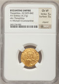 Ancients:Byzantine, Ancients: Theophilus. 829-842. AV solidus,...