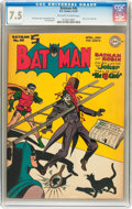 Golden Age (1938-1955):Superhero, Batman #40 (DC, 1947) CGC VF- 7.5 Off-white to white pages....