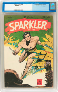 Sparkler Comics #44 Mile High pedigree (United Features Syndicate, 1945) CGC NM/MT 9.8 White pages