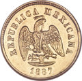 Mexico, Mexico: Republic gold 2 1/2 Pesos 1887Mo-M,...