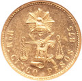 Mexico, Mexico: Republic gold 5 Pesos 1903Mo-M,...