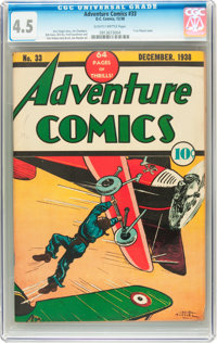 Adventure Comics #33 (DC, 1938) CGC VG+ 4.5 Slightly brittle pages