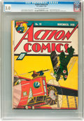 Golden Age (1938-1955):Superhero, Action Comics #18 (DC, 1939) CGC GD/VG 3.0 Light tan to off-white pages....