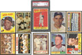 Baseball Cards:Lots, 1957-64 Topps Baseball Stars & HoFers Collection (14) With NineMantle Collectibles! ...