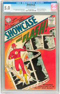 Silver Age (1956-1969):Superhero, Showcase #4 The Flash (DC, 1956) CGC VG/FN 5.0 Off-white to whitepages....