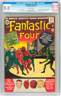 Fantastic Four #11 (Marvel, 1963) CGC VF 8.0 Off-white pages