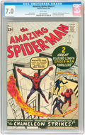 Silver Age (1956-1969):Superhero, The Amazing Spider-Man #1 (Marvel, 1963) CGC FN/VF 7.0 White pages....