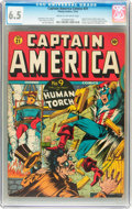 Golden Age (1938-1955):Superhero, Captain America Comics #21 (Timely, 1942) CGC FN+ 6.5 Cream to off-white pages....