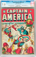 Golden Age (1938-1955):Superhero, Captain America Comics #25 (Timely, 1943) CGC FN/VF 7.0 Cream to off-white pages....
