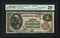 National Bank Notes:Vermont, Poultney, VT - $5 1882 Brown Back Fr. 477 The First NB Ch. # (N)2545. ...