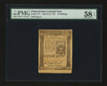 Colonial Notes:Pennsylvania, Pennsylvania March 25, 1775 16s PMG Choice About Unc 58 EPQ.. ...