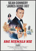 "Movie Posters:James Bond, Never Say Never Again (Constantin, 1983). German A1 (23"" X 33"").James Bond.. ..."