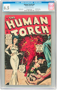 The Human Torch #30 (Timely, 1948) CGC FN+ 6.5 Off-white to white pages