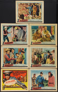 """Movie Posters:Western, The Lone Ranger and the Lost City of Gold (United Artists, 1958). Title Lobby Card and Lobby Cards (6) (11"""" X 14""""). Western.... (Total: 7 Items)"""