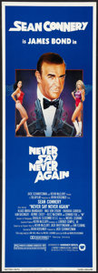 """Movie Posters:James Bond, Never Say Never Again (Warner Brothers, 1983). Insert (14"""" X 36"""").James Bond.. ..."""