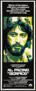 "Movie Posters:Crime, Serpico (Paramount, 1974). Insert (14"" X 36""). Crime.. ..."