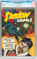 Golden Age (1938-1955):Crime, Shadow Comics V2#7 (Street & Smith, 1942) CGC VF/NM 9.0 Off-white pages....
