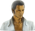 Music Memorabilia:Original Art, Elvis Presley Painted Bronze Bust....