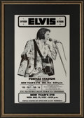 Music Memorabilia:Posters, Elvis Presley 1975 Concert Poster from the Collection of Colonel Tom Parker....