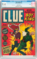 Golden Age (1938-1955):Crime, Clue Comics #4 Rockford pedigree (Hillman Publications, 1943) CGC NM 9.4 Off-white pages....