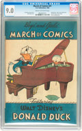 Golden Age (1938-1955):Funny Animal, March of Comics #41 Donald Duck in Race to the South Seas (K. K.Publications, Inc., 1949) CGC VF/NM 9.0 Cream to off-white pa...