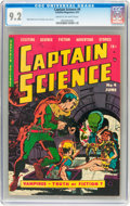 Golden Age (1938-1955):Science Fiction, Captain Science #4 (Youthful Magazines, 1951) CGC NM- 9.2 Cream tooff-white pages....