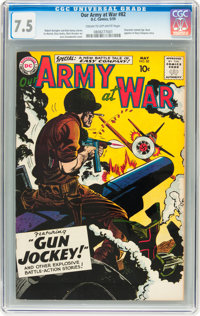 Our Army at War #82 (DC, 1959) CGC VF- 7.5 Cream to off-white pages