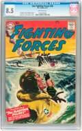 Silver Age (1956-1969):War, Our Fighting Forces #20 (DC, 1957) CGC VF+ 8.5 Off-white pages....