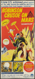 "Movie Posters:Science Fiction, Robinson Crusoe on Mars (Paramount, 1964). Trimmed AustralianDaybill (12.5"" X 29""). Science Fiction.. ..."