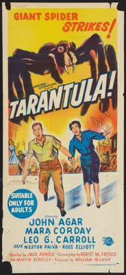 "Tarantula (Universal International, 1955). Australian Daybill (13"" X 30""). Science Fiction"