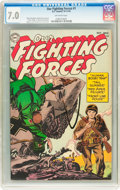 Golden Age (1938-1955):War, Our Fighting Forces #1 (DC, 1954) CGC FN/VF 7.0 Off-white pages....