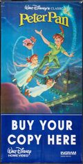 "Movie Posters:Animated, Peter Pan Lot (Walt Disney, R-Late 1980s). Video Banner (36"" X 71"")and One Sheet (27"" X 41""). Animated.. ... (Total: 2 Items)"