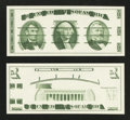 Giori Test Washington Note Face and Back Pair. Gem Crisp Uncirculated