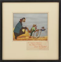 Song of the South Animation Production Cel Set Up with Background Original Art Signed by Walt Disney (Disney, 1946)