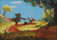 Song of the South Animation Production Cel Set Up with Background Original Art (Disney, 1946)