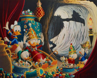 Carl Barks In the Cave of Ali Baba Gold Plate Limited Edition Lithograph and Fabergé Egg (Another Rainbow, 1992-9...