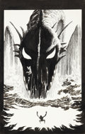 Original Comic Art:Splash Pages, John Bolton The Black Dragon Splash page Original Art(1985)....