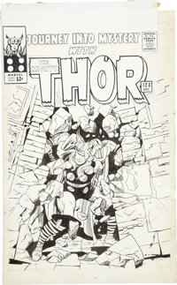 Jack Kirby and Vince Colletta Journey Into Mystery #123 Thor Cover With an Additional Original Pencil Drawing ... (Total...