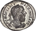 Ancients:Roman Imperial, Ancients: Macrinus. A.D. 217-218. AR denarius,...