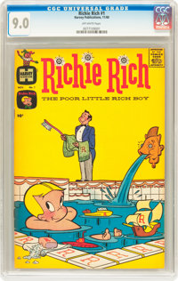 Richie Rich #1 (Harvey, 1960) CGC VF/NM 9.0 Off-white pages