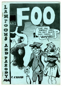 Foo #2 Original Edition by Robert and Charles Crumb (Animal Town Comics, 1958) Condition: FN