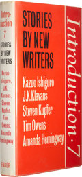 Books:Signed Editions, Kazuo Ishiguro, et al. Introduction 7: Stories by New Writers. London Boston: Faber and Faber, 1981. First editi...