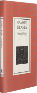 Books:First Editions, Seamus Heaney. Seeing Things. London Boston: Faber andFaber, 1991. First edition. Publisher's original binding ...