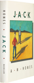 Books:Signed Editions, A. M. Homes. Jack. New York: Macmillan Publishing Company, 1989. First edition. Signed by the author on the ...